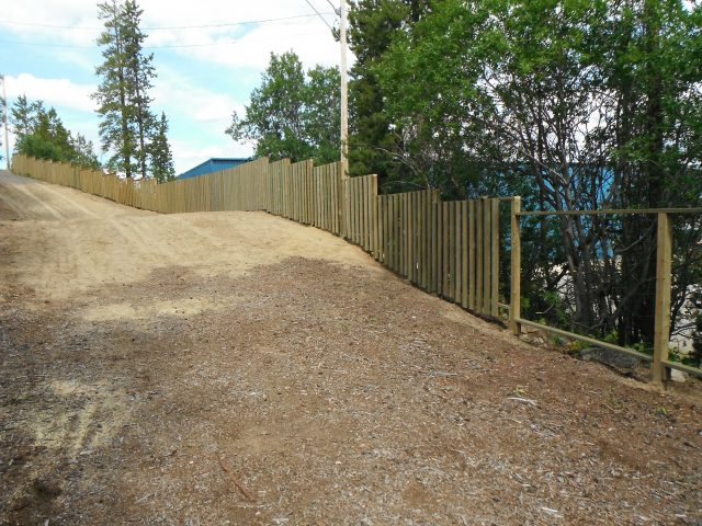Security Fence For Ski Chalet