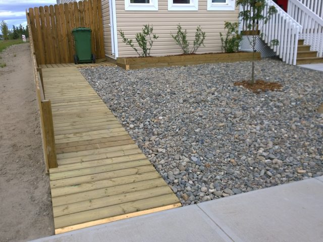 Ramp Access And Planter Bed