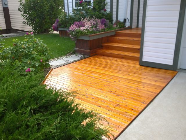 Rebuilt Cedar Deck