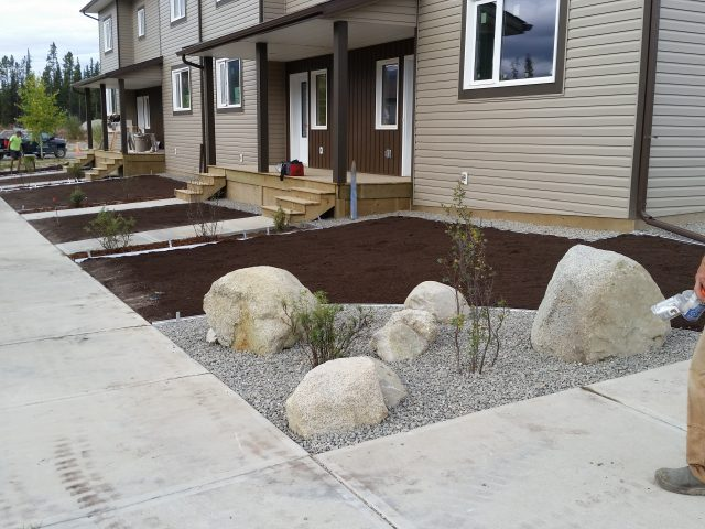 Townhouses Recieve Full Lawn Makeover