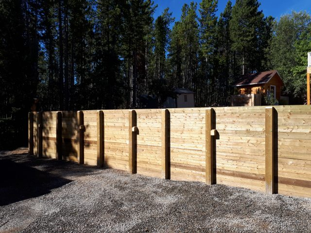 Massive Timber Retaining Wall  Redefines Entire Backyard