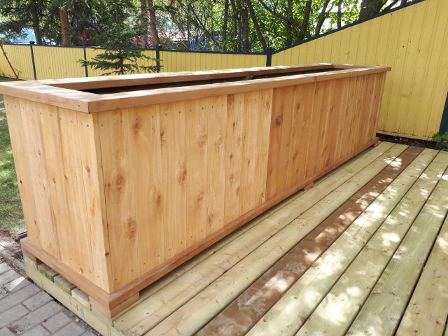 Deck And Planter Box Allow Use Of Tight Space