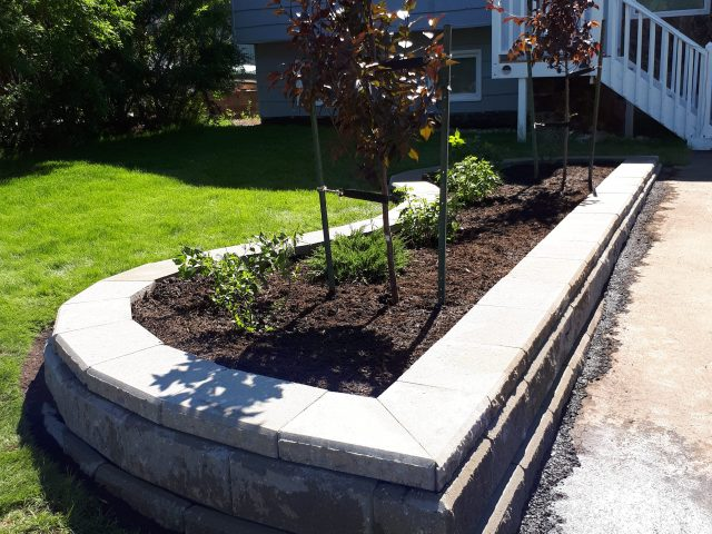 Front Yard Shrub Bed Greatly Increases Curb Appeal