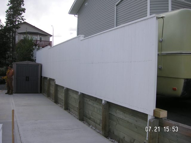 Privacy Fence With Retaining Wall