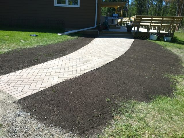 New Paver Walkway Creates Solid Path Into Home