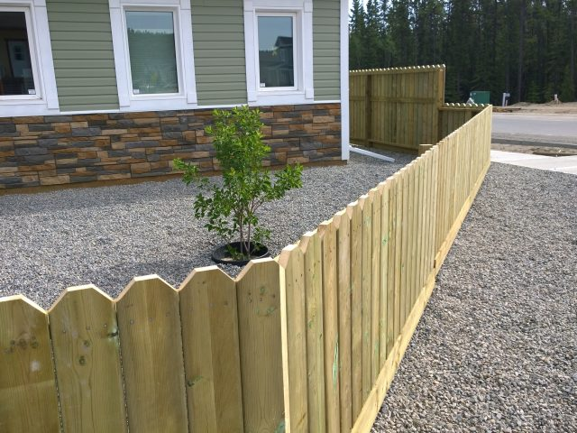New Home Utilizes New Fence Around Property